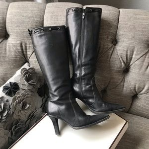 Coach Bella Waxy Tall Heels Boots Woman's 6.5